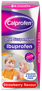 Calprofen Oral Suspension Strawberry flavour for 3+ months
